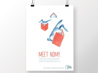 illustrated poster: nomy for buns
