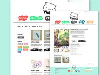 online-shop website concept: thangs