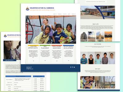 VAC website design screenshots