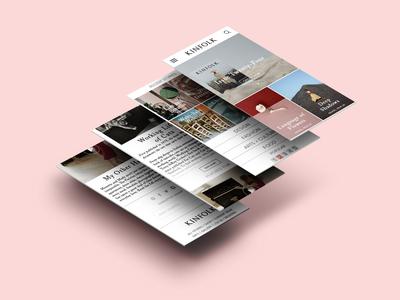 kinfolk mobile app redesign
