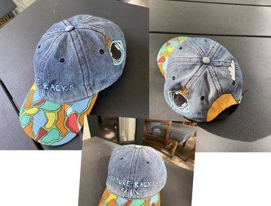Custom Denim Hat Design artist paint denim clothing design apparel design illustration design