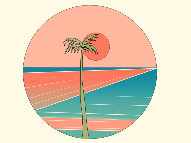 Retro Palm retro design retro ocean palm icon artist graphic design design illustration graphic