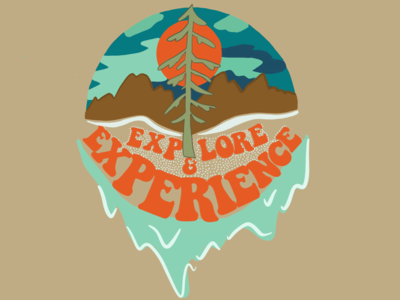 Explore and Experience nature outdoor sticker art experience mountain