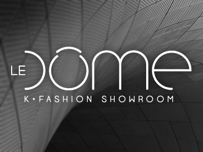LEDÔME logo logotype typo identity fashion showroom corea ledôme blue purple