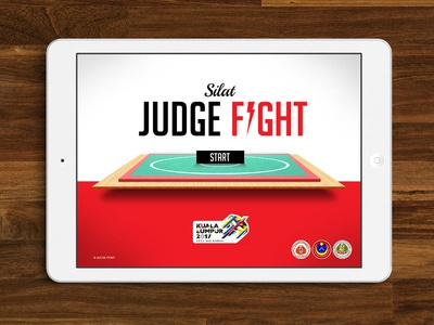 JUDGE FIGHT sport app judge silat martial art ui  ux design application design
