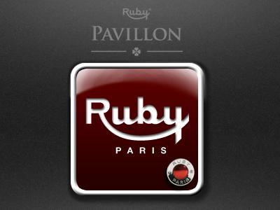 Ruby Icon App 2 icon button design app illustration helmet identity ios ipad iphone logo ruby sketch