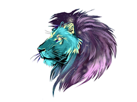 Space Lion tattoo.