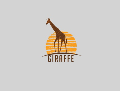 giraffe branding icon vector illustration giraffe