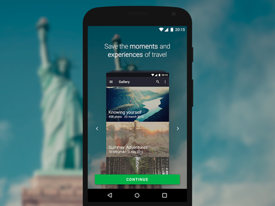 Onboarding gallery app photo onboarding interface ui design lollipop material android