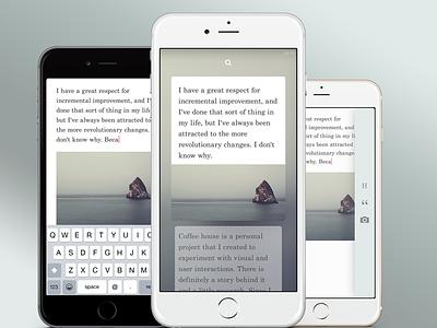 Notes iOS App iphone6 notes ui mobile app ios
