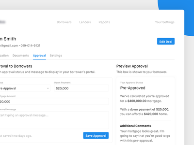 Mortgage Approval website ux ui mortgage minimal form clean application