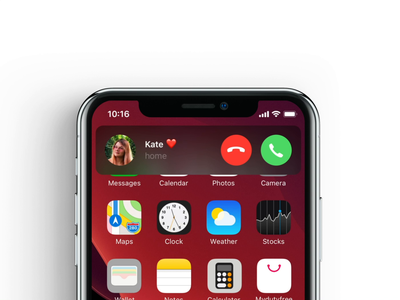 iPhone - incoming call sketch notification notification center push call ios iphone x iphone apple ux ui after effects animation