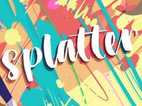 splatter branding logo design illustration