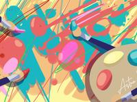 splattercover vector flat illustration