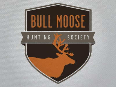 Hunting Patch patch shield moose crest logo hunting badge emblem