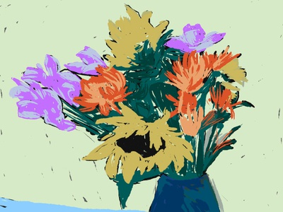 Gogh to the Flower Fields illustration photoshop art