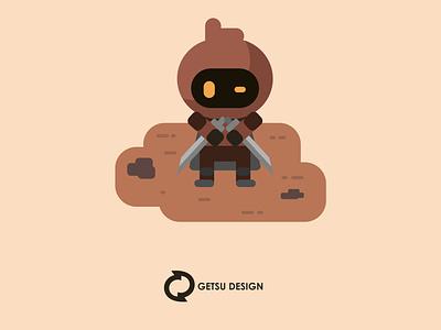 Ninja Reaper vector game art gameart design games game design animation illustration