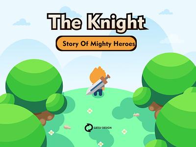 Title game design vector game art gameart games game design illustration animation