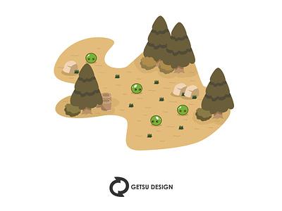 Jelly monster game enviroment game art vector games design gameart animation game design illustration