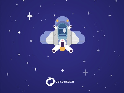 Space Plane vector gameart design game design animation illustration
