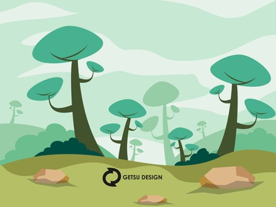 Flat florest games design gameart animation game design illustration