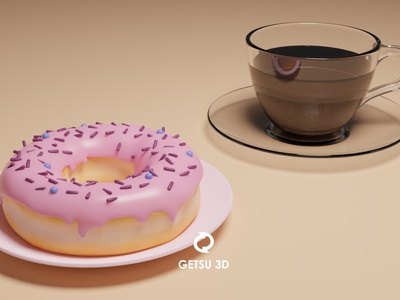 Donut and Coffee 3dmodeling modeling 3d art