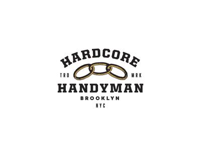 Hardcore Handyman NYC typography logo design