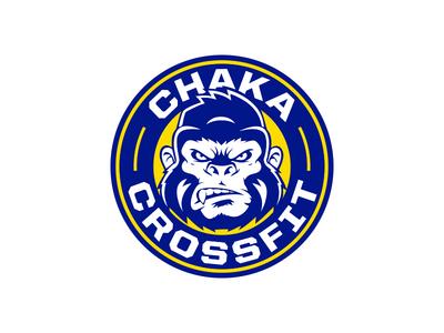 Chaka Crossfit typography logo design