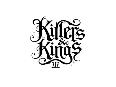 Killers & Kings merchandise design typography logo design