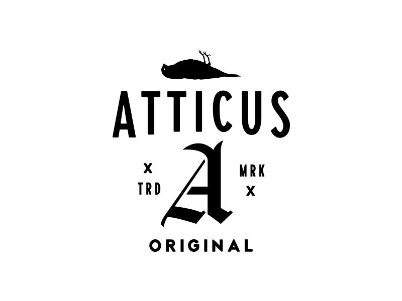 Atticus merchandise design typography logo design