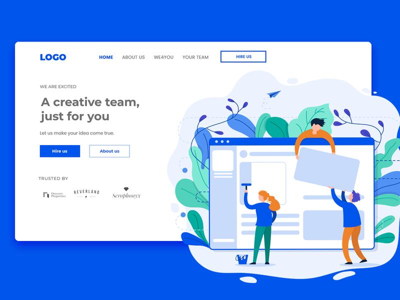 Creative Team Hero Section web design ui design hero creative agency hero section creative team