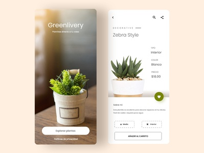 Greenlivery Plants Delivery - UI/UX Mobile App Design uidesign uiux mobile app design mobile app mobile ui ui design