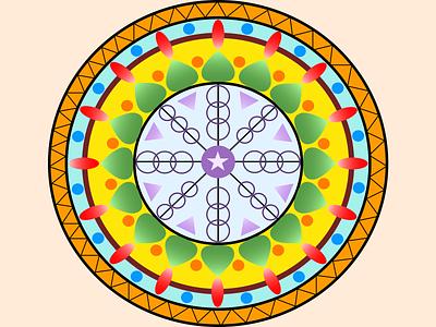 Flat Design Mandala vector doodle art design flatdesign illustration art mandala design mandala art mandala