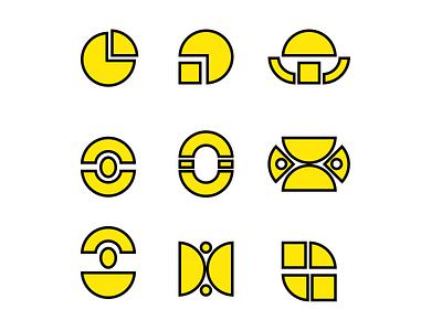 Circle Logo doodle art design vector flatdesign art illustration logo