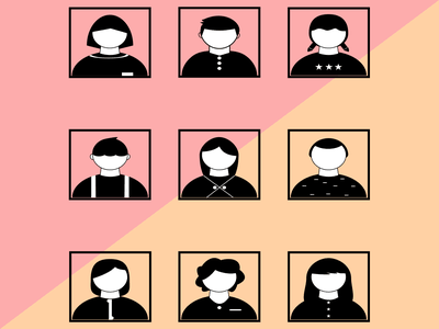 Flat Design Characters art design people illustration characters illustration flatdesign