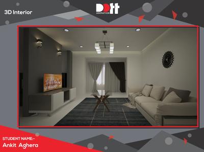 DOTT ANIMATION ANKIT   INTERIOR DESIGN photo interior 3d art 3d branding design