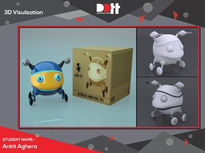 DOTT ANIMATION ANKIT AGHERA  3D VISULIZATION 3d product modeling 3d product design 3d modeling 3d artist 3d product 3d visualization photo art 3d art 3d branding design