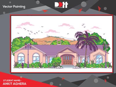 DOTT ANIMATION Ankit Aghera  VECTOR PAINTING vector art vector photo graphics branding design