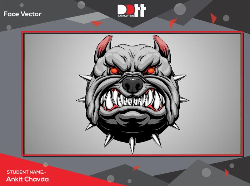 DOTT ANIMATION ANKIT CHAVDA FACE VECTOR face illustration 2d art 2d photo vector graphics branding design