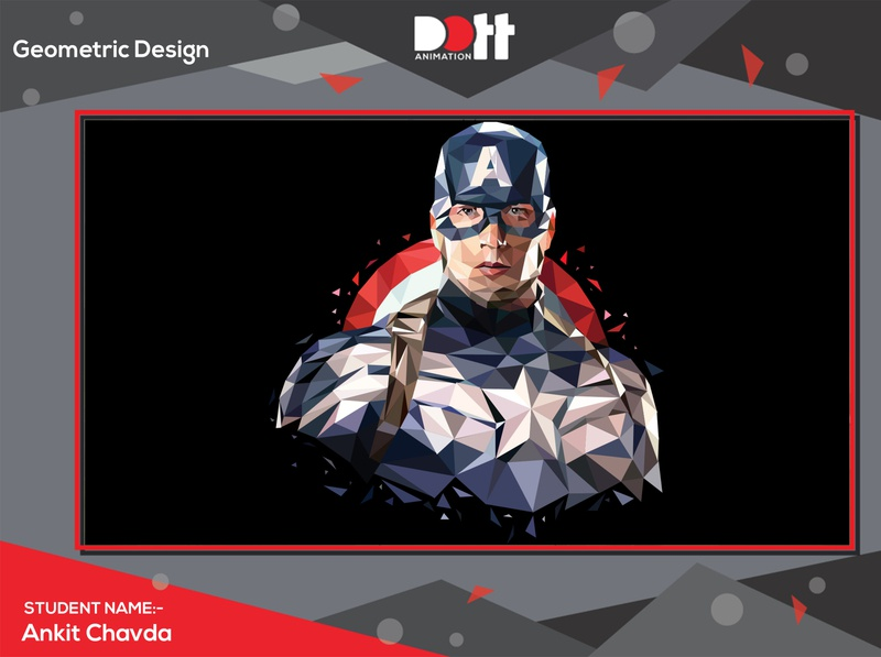 DOTT ANIMATION ANKIT CHAVDA GEOMETRIC DESIGN design art geometic photo graphics branding design