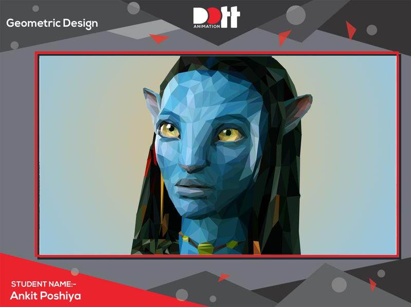 DOTT ANIMATION ANKIT POSHIYA GEOMETRIC DESIGN photo graphics branding design