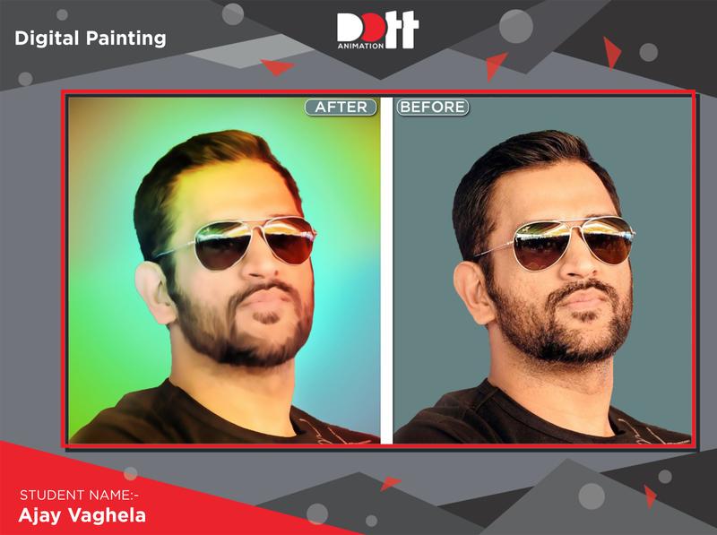 DOTT ANIMATION AJAY VAGHELA DIGITAL PAINTING digitalart digital painting 2d art graphics branding design