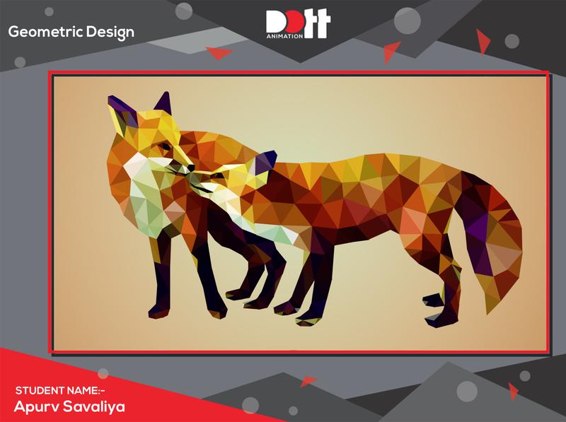 DOTT ANIMATION APURV SAVALIYA GEOMETRIC DESIGN 2d art illustration vector 2d graphics photo branding design