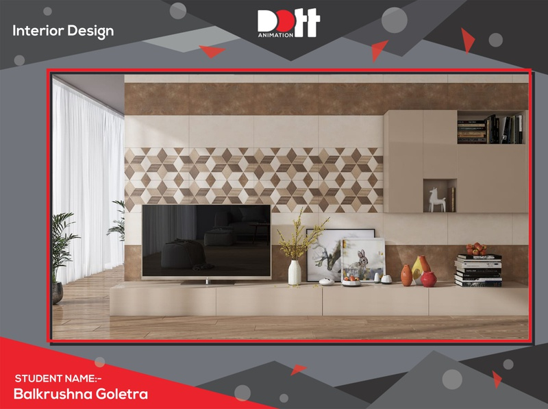 DOTT ANIMATION BALKRUHNA  INTERIOR DESIGN UPLOAD artwork 3d architecture branding design