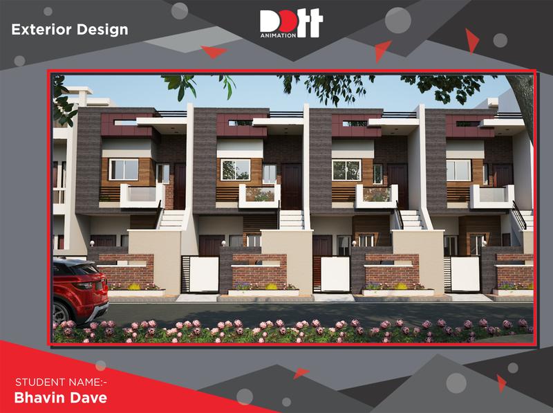 DOTT ANIMATION BHAVIN DAVE  EXTERIOR DESIGN 3dsmax exterior design branding