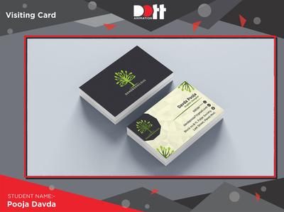 DOTT ANIMATION POOJA DAVDA VISITING CARD logo graphics branding design visitingcard