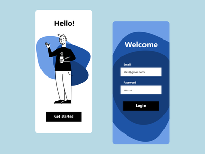 Onboarding concept design 💎 animation logo branding illustration typography 3d minimal digital ui ux design