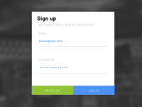 Daily UI: Day 001 SIGN UP