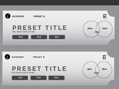 Mixtable: Preset Selectors