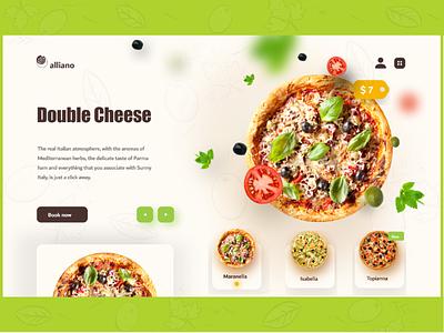 Pizza Landing Page UI UX Design web design designer landingpage website ux ui pizzeria pizza